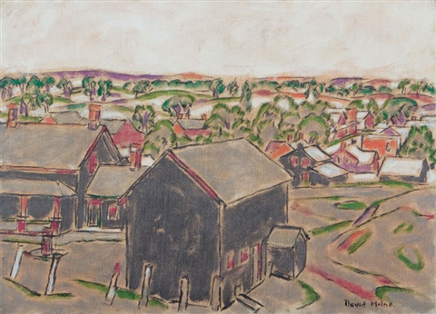 grey village by david brown milne