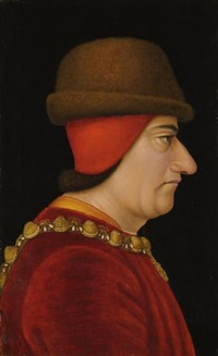profile portrait of louis xi, king of france (1423-1483), wearing the collar of the order of saint-michel by french school (15)
