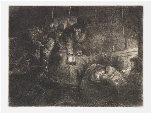 the adoration of the shepherds a night piece 2 others 3 works by rembrandt van rijn