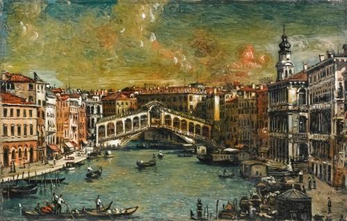 venezia ponte di rialto by giorgio de chirico
