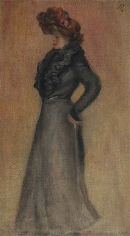femme debout de profil by pierre auguste renoir