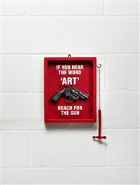 if you hear the word 'art' reach for the gun by nancy fouts