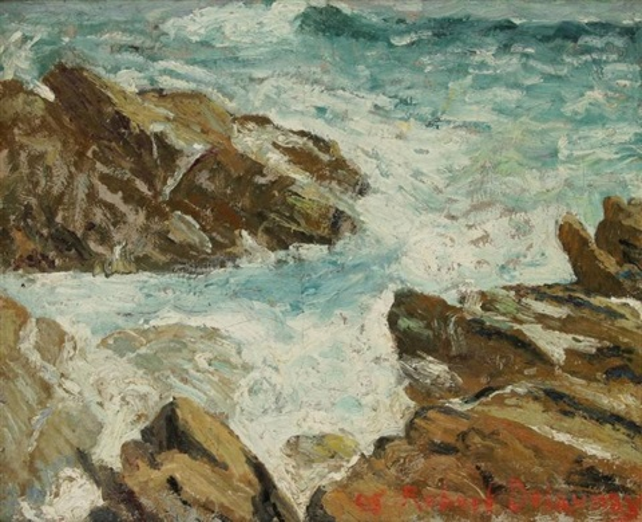 crique rocheuse ou la mer by robert delaunay