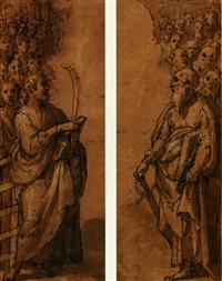 san giacomo maggiore e santi (+ san paolo e santi; 2 works) by francesco (zucchi) zucco