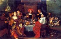 lazare et le mauvais riche by hieronymus francken the elder