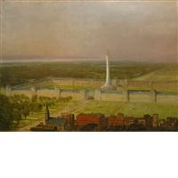 architectural fantasy by albert bierstadt
