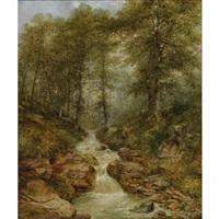 rushing river through a ravine by thomas doughty