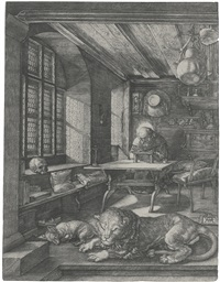 saint jerome in his study by albrecht dürer