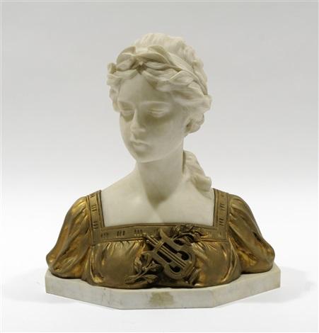 jeune femme à la couronne de laurier by gustave van vaerenbergh