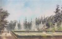the fountains at peterhof by josef iosefovich charlemagne