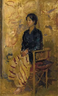 portrait of seated javanese beauty by isaac israels