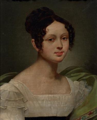 portrait de femme by pierre antoine augustin vafflard