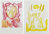 volto - figure nello spazio (2 works) by virgilio guidi