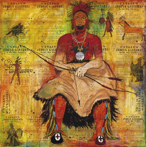 untitled seated warrior by stan natchez