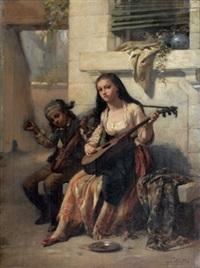 enfants musiciens des rues by charles auguste romain lobbedez