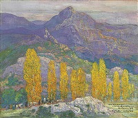 the mountains above pollensa, majorca by hermenegildo anglada camarasa
