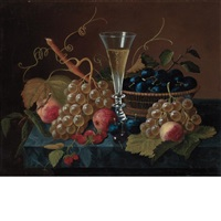 still life with pilsner and fruit by severin roesen