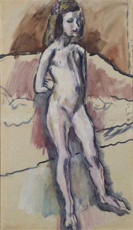 jeune fille by jules pascin