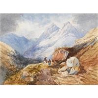berglandschaft by alexandre calame