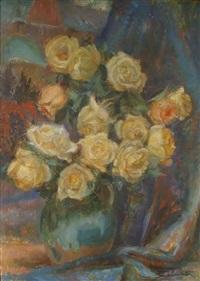róże w wazonie by stanislaw paciorek
