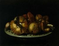 natura morta con funghi by elena recco
