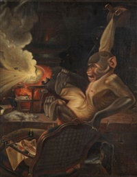 le singe savant by philippe rousseau