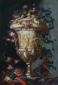 bouquet de fleurs by karel van vogelaer