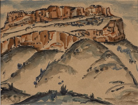 untitled (red rock mesa) by frank applegate