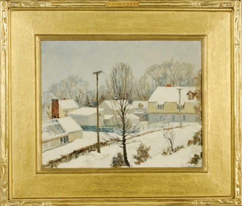 winter at snug rock by wells m sawyer