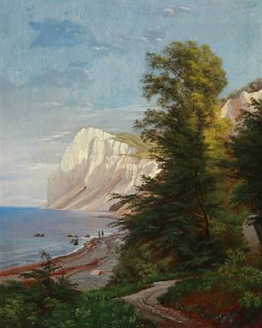 summer day at møns klint denmark by carl frederik peder aagaard