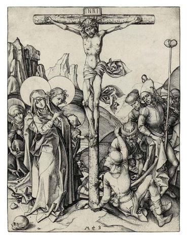 the crucifixion by martin schongauer