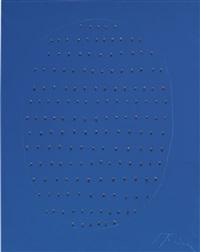 concetto spaziale (blu) by lucio fontana