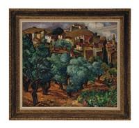 paysage provençale by maria-mela muter