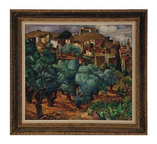 paysage provençale by maria mela muter