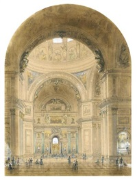 interior of st. isaac's cathedral by josef iosefovich charlemagne