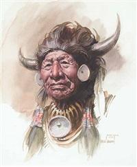 walking buffalo, stony by w. brown