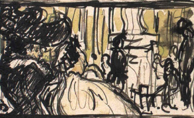 femme au cafe
