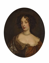 half length portrait of a lady by sir peter lely