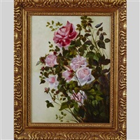 cuttings of red and pink roses by george cochran lambdin