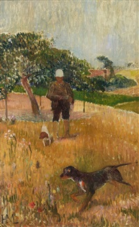 le chasseur by henry moret