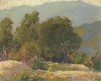 the oak, trees in a landscape by sam hyde harris