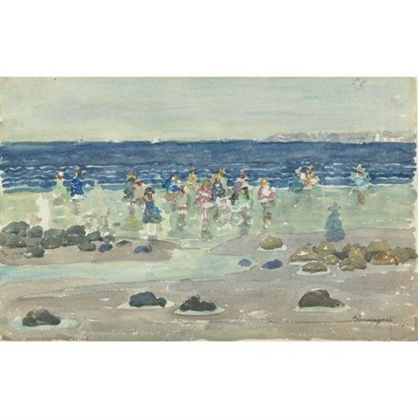 low tide by maurice brazil prendergast