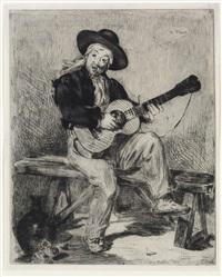 le guitarero (ou le chanteur espagnol) (from l'artiste) by édouard manet
