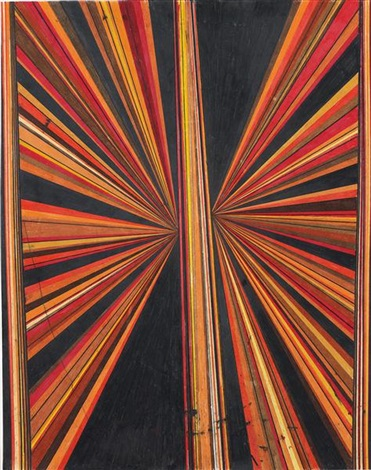 butterfly (black, red, orange) by mark grotjahn