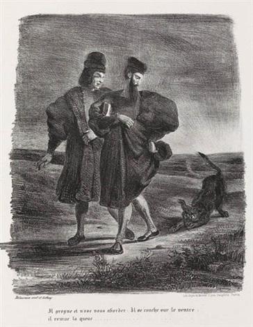 faust méphistophélès et le barbet from faust by eugène delacroix