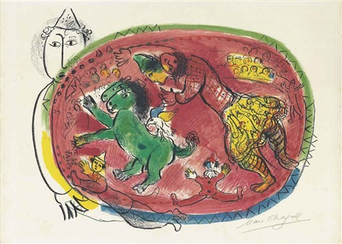 cercle rouge by marc chagall
