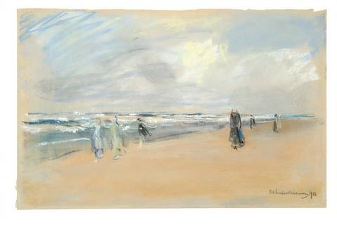 am meeresstrand windiger tag am meer by max liebermann