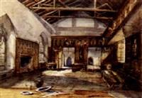 the hall at haddon, derbyshire by henrietta hester lloyd fletcher