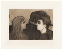 attraction ii by edvard munch