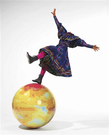 girl on globe by yinka shonibare mbe